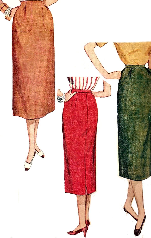 1950s skirt pattern simplicity simple inverted pleat vintage
