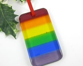 Glass Rainbow Suncatcher - Fused Glass Rainbow Ornament