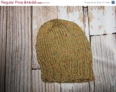 HAT SALE Baby Hat - 12 - 24 months Hand knit   tweed
