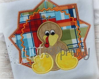 Turkey Boy Embroidery Applique Design
