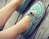 Download Now - CROCHET PATTERN Easy Street Slippers - Ladies Sizes - PDF