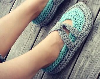 Download Now - CROCHET PATTERN Easy Street Slippers - Ladies Sizes - PDF