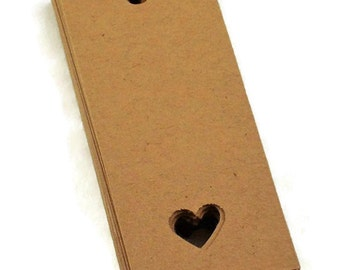 Kraft Gift  Tags in  Love Set of 50