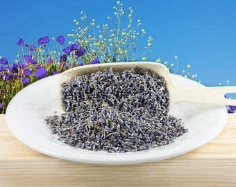 Lavender, Organic Dried French Lavender, Tea, Edible Flowers, Potpourri or Craft Supply, 2 oz