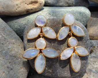 Big Moonstone Earrings