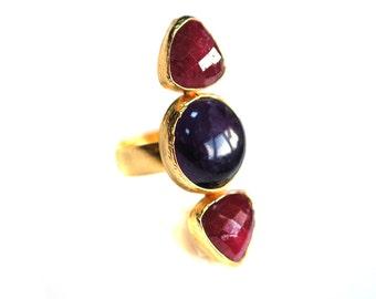 Ruby Versus Amethsyt Ring