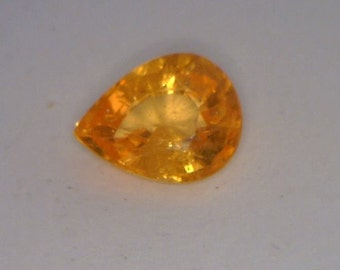 Fanta Orange Spessartite Garnet Faceted 7.6x5.9x3.6 mm Pear Gemstone 1.30 carat