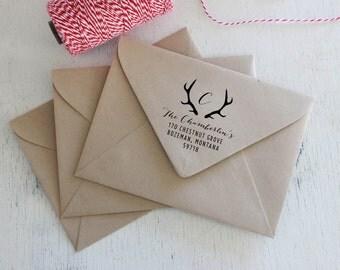 Antler personalized return address stamp