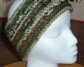 Crochet headband - earthtone colors