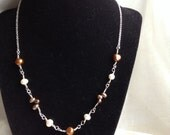 Colored Pearl Silver Necklace