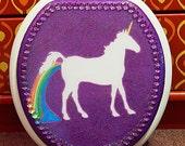 Unicorn Pooping Rainbows Toilet Seat