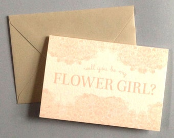 Will you be my Flower Girl? - letterpress greeting card