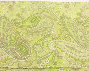 Cotton Quilting Fabric | Amy Butler fabric | Ginger Bliss Lime Green French Paisley 1/2 yard