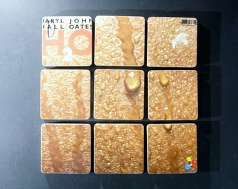 DARYLL Hall and JOHN Oates recycled H2O album art cover coasters with matching warped bowl