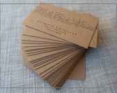 75 CHINO letterpress calligraphy cards