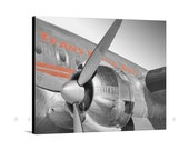 Canvas Airplane Decor, Aviation Art, Airplane Art Photography, TWA Constellation, Connie, Vintage Airplane, Canvas Print, Ready to Hang