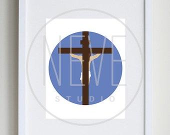 Jesus Christ on Calvary, Christian artwork, LDS art for kids