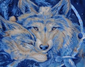 Spirit Wolves Fleece Throw