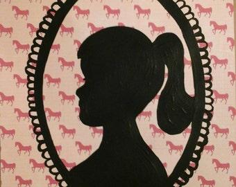 Annabella shadow portrait