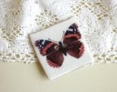 A Beautiful, Handmade Butterfly Design Button