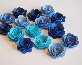 15 Cape Cod rolled paper flowers, wedding decoration,scrapbook decoration,table decoration, rosette,small flower,embellishment