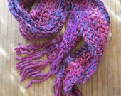 Cozy sherbet scarf in blue pinks purples ready to ship Fall fashion