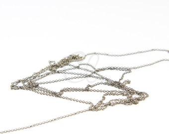 6 Feet Oxidized Brass Chains - Flat Oval 1.45x1.16mm (225SF02)