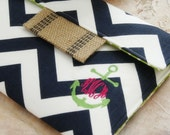 """Monogrammed Nautical MacBook Case,Personalized MacBook Cover,Macbook Pro,Macbook Air Case,13"""" Laptop Sleeve in Nautical Navy Chevron Anchor"""