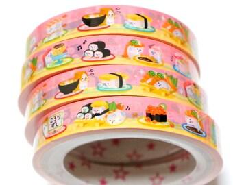 1 piece Japanese Decoration Tape Kawaii sushi