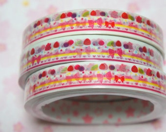 1 piece Japanese Decoration Tape Sweets and Bow