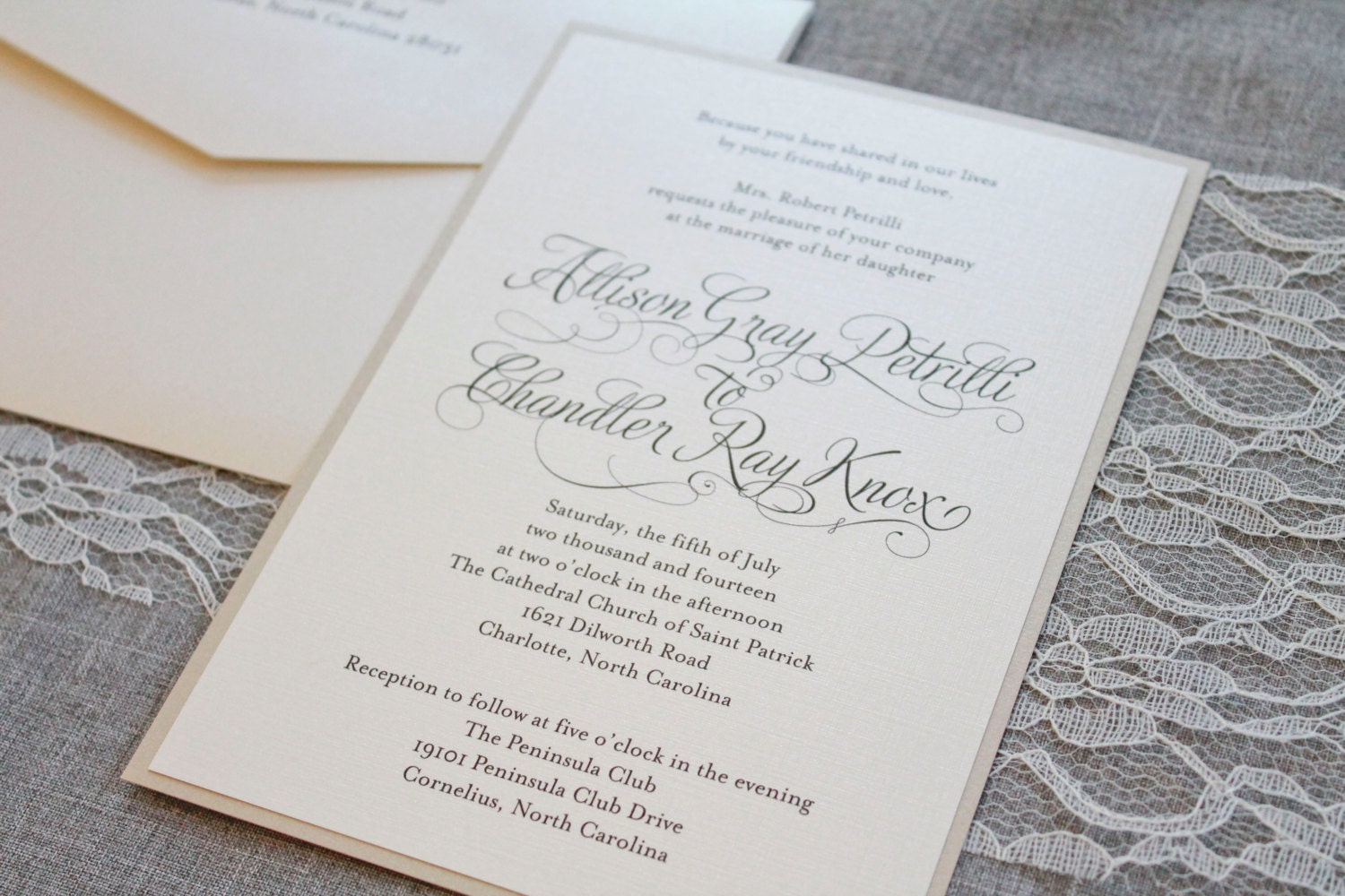 Evening Wedding Reception Invitations: Ivory Wedding Invitations Gold Formal Wedding Ceremony