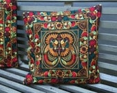 Embroidered cushion pillow covers 17x17