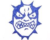 Mad-dog Stamp - Hand Carved Rubber Stamp