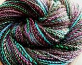 Mohawk de Jamin handspun two ply merino and bfl yarn, 110 yards