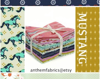 Mustang by Melody Miller for Cotton + Steel cotton fabric fat quarters , 14-pc bundle