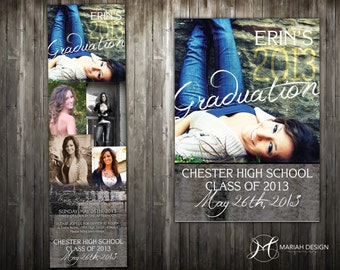 Foldout Photo Collage Graduation Invitation