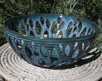 Pottery Bowl - Hand Carved - See shop for Handmade Pottery