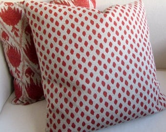SAHARA CORAL  decorative designer pillow cover 18x18 20x20 22x22 24x24 26x26