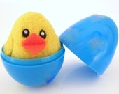 Needle Felted Chick in an Egg - Felted Wool toy for boys and girls - Waldorf - Bird - Easter