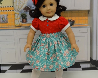 Bird Watching - vintage style dress for American Girl
