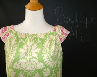 Ruffle Pillowcase DRESS or TOP - Amy Butler - Made in ANY Size - Boutique Mia
