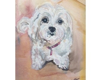 Made to order Watercolor Portrait of your pet
