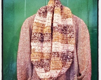 Foxy Infinity Scarf - loop and wrap scarf.