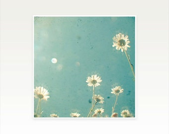 Daisy Art, Flowers, Dreamy Photography, Bedroom Art, Summer, Floral, Gift for Woman - Stand Tall