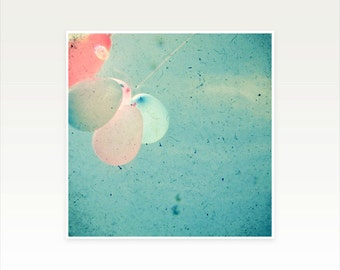 Balloon Photography, Nursery Art, Baby Room Decor, Minimal, Childrens Room, Pastel Decor, Summer - Float Away