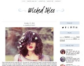 Premade Blogger Template - WICKED SKIES -  Mobile Responsive - Graphic Design - Blog Template