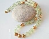 Luminous - Prehnite and Vermeil Necklace