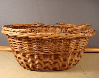 Nice woven market basket with two swing handles