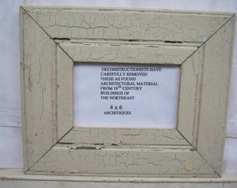 RECLAIMED WOOD Picture Frame 4x6 Shabby Khaki Recycled CHIC s2257-14