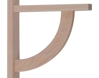 Wood Shelf Bracket- Maple Convex 10